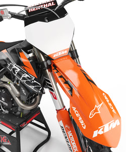 "KTM GRAPHICS KIT ""GATE ORANGE/BLACK"""