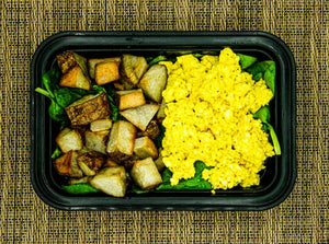 Scrambled Tofu, Spinach and Potatoes