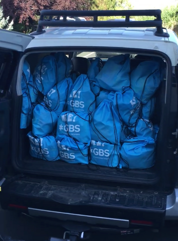 Car full of food bags for KidsEat!