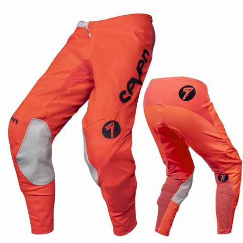 Seven's Annex Exo pants in coral/navy colourway