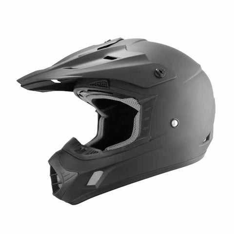 TH-TX12-BM-size - THH TX12 Matte Black offroad/dirt helmet for adults and youth