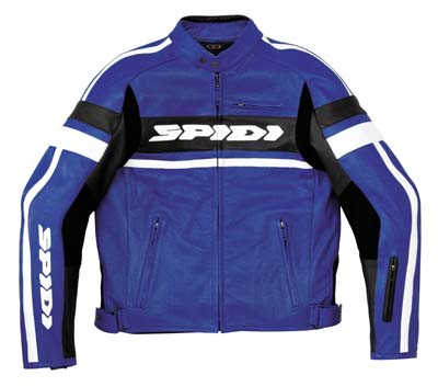 Spidi Scarface Wind Leather Jacket Blue