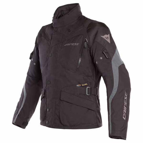 Dainese Tempest 2 D-Dry textile jacket is available for men and women in black colourway (shown)