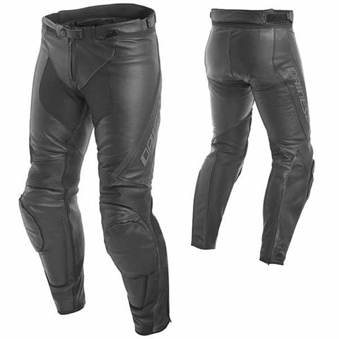 Dainese Assen men's leather black and anthracite pants