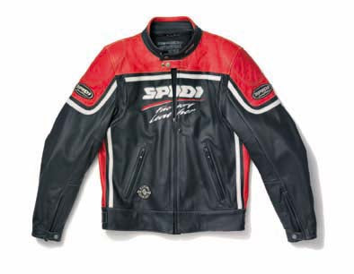 Spidi Nasty Leather Jacket Black/Red