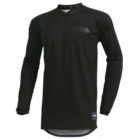Oneal Element offroad/dirt jersey in Classic Black colourway for adults and youth