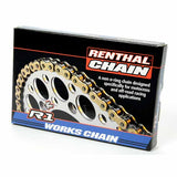 Renthal R1 works chain is a non o-ring chain designed specifically for motocross and off-road racing applications. Each chain includes a masterlink and a pair of latex gloves for mess free installation.
