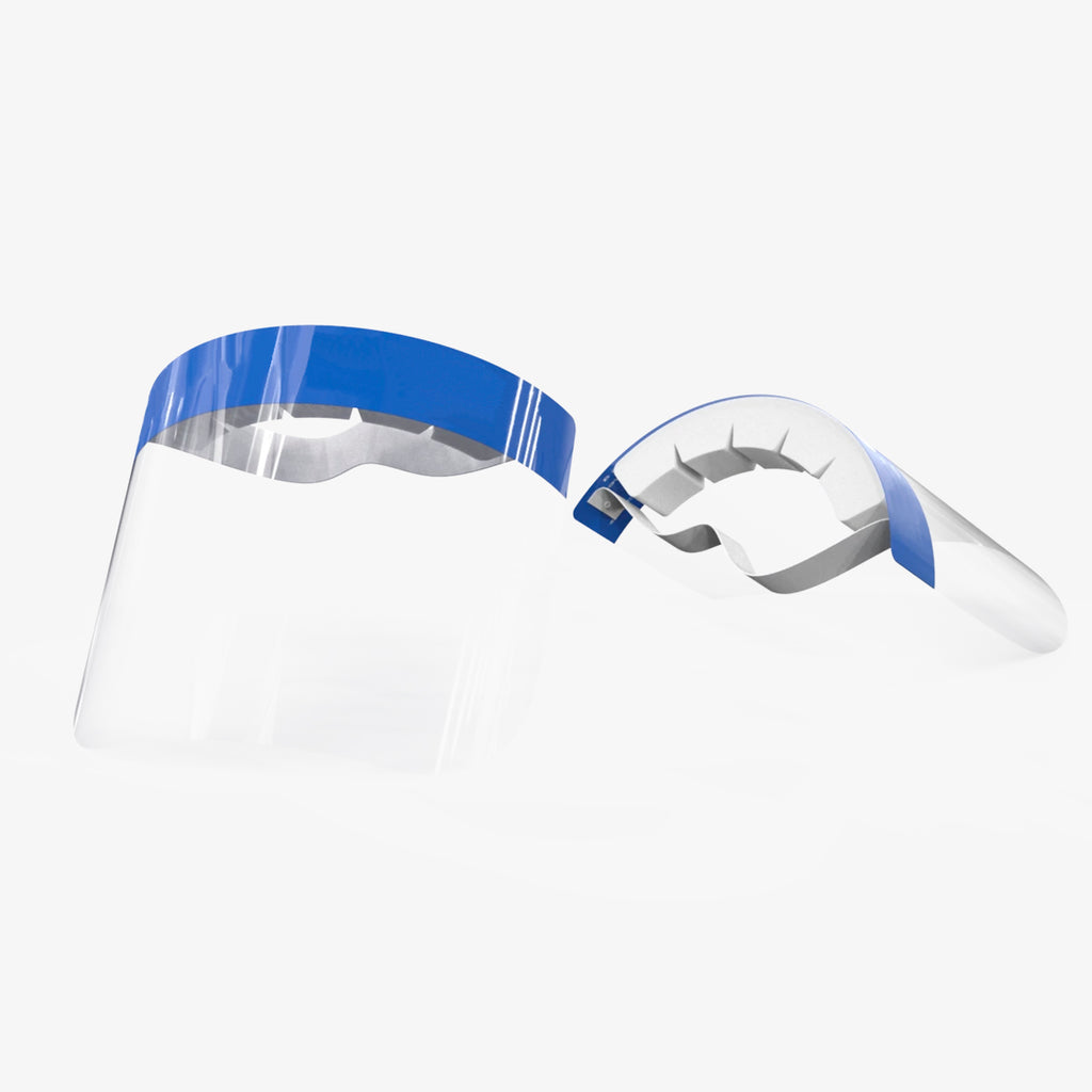 Anti-droplet clear face protection shield multi-view