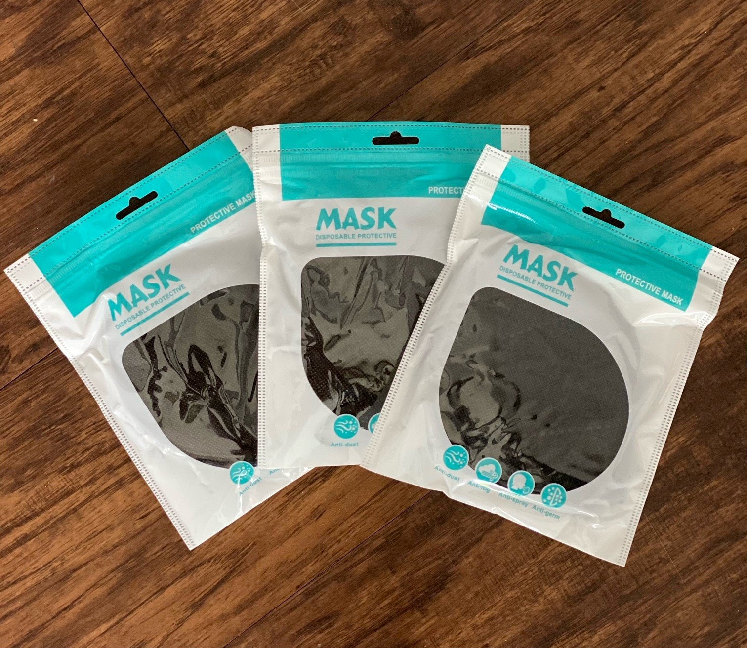 Black KN95 Protective Face Masks (20 Pack) - Think360 Inc
