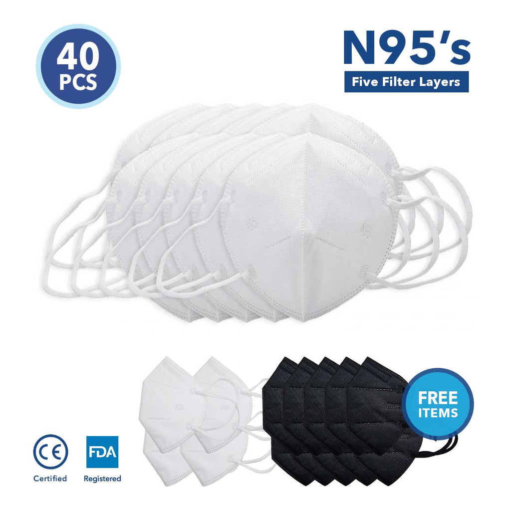 N95 50+ Mask Bundle (Free Items Included)