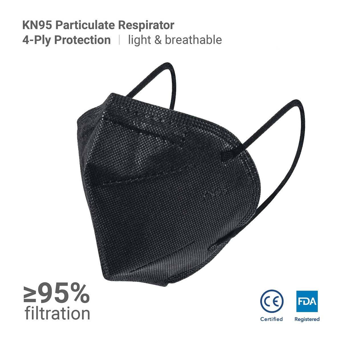 Black KN95 (Individually Packed) - Think360 Inc