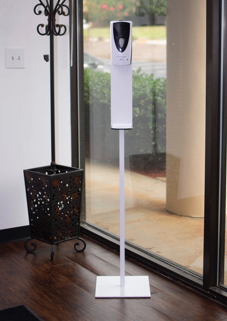 Touchless Electric Hand Sanitizer Dispenser with Stand in room view
