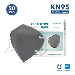 Grey KN95 Protective Face Masks (20 Pack)