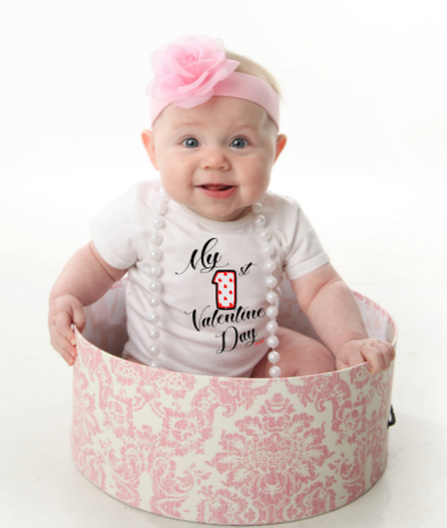 My 1St Valentine's Day Baby Shirt My First Valentine's Day Shirt - SouthernHearth Custom Tees & More