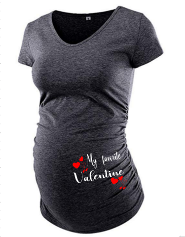 Valentine's Day Maternity Shirt - SouthernHearth Custom Tees & More