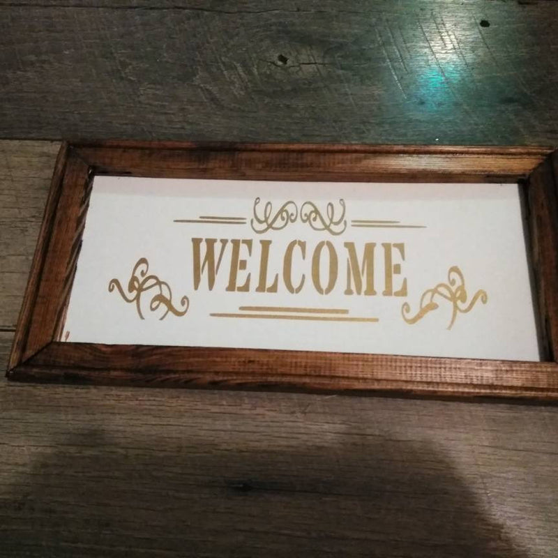 Modern Farmhouse welcome sign