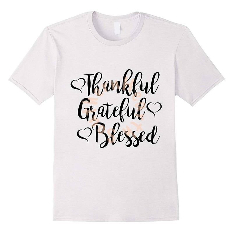 Thankful Grateful Blessed shirt.  Thanksgiving shirt,Women's  Thanksgiving tee shirt, Women's thankful shirt,