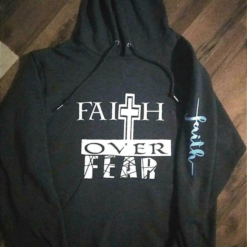 Faith Over Fear Cancer Ribbon hoodie, Women's Faith hoodie, Men's Faith Hoodie, unisex hoodie, inspirational hoodie, cancer survivor hoodie