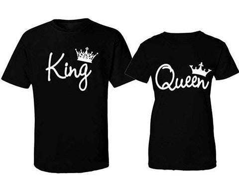 King and Queen Couples Shirt Set - SouthernHearth Custom Tees & More