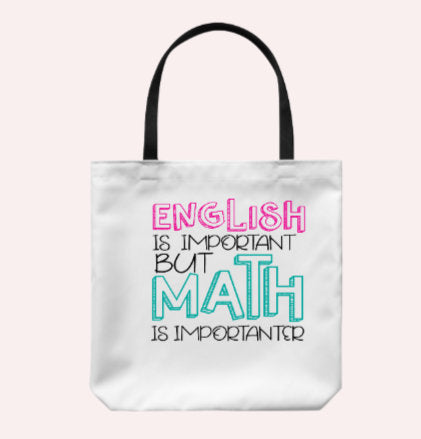 Teacher Gift/ Teacher Bag/ Teacher Tote Bag/ Math Teacher Gift
