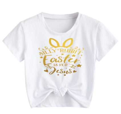 Silly Bunny Easter is for Jesus tee shirt/ Adult Easter shirt/ cute religious Easter tee shirt