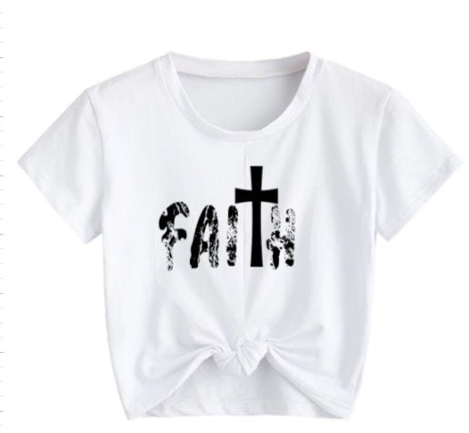 Cute Faith Tee Shirt/ Faith religious Tee Shirt/ Cute cross shirt/ Women's christian apparel