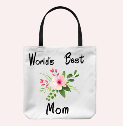 Best om Ever tote bag/ Tote bag for Mom/ Mother's Day Gift/ Floral tote bag for mom/ Gift for Mom
