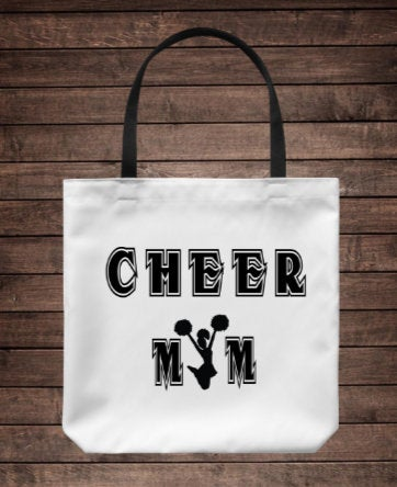 Cheer Mom Tote Bag/ Mother's Day Gift/ End of Cheer Season Gift/ Cheer Coach Bag