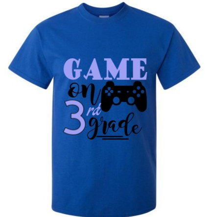 Game on Third Grade back to school tee shirt/ Boys gaming school tee/ back to school tee shirt