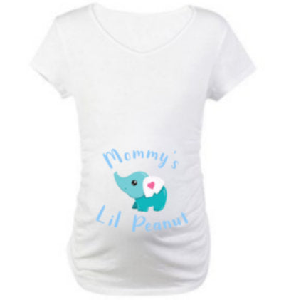 Maternity Shirt/ Mommy's Lil Peanut Elephant Maternity shirt