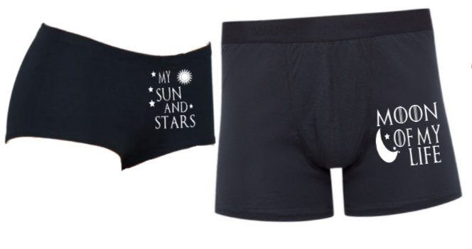 Game of Thrones Inspired Matching Couple's Underwear Set