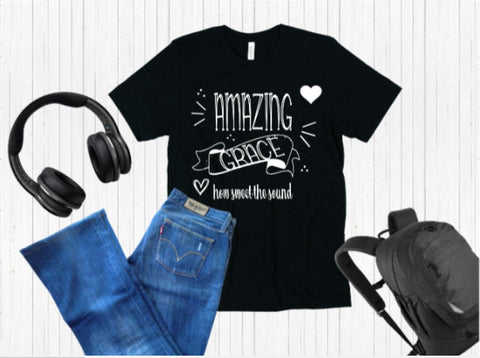 Amazing Grace tee shirt, Inspirational Religious Shirt - SouthernHearth Custom Tees & More