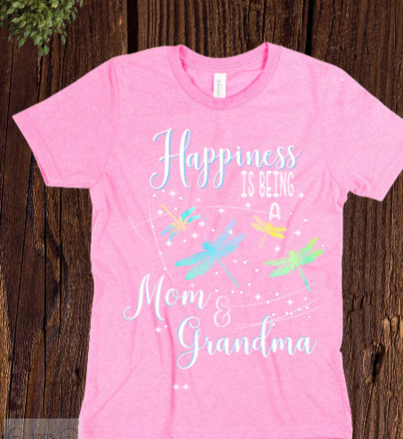 Mom and Grandma tee shirt/ Happy Mom shirt/ Happy Grandma shirt