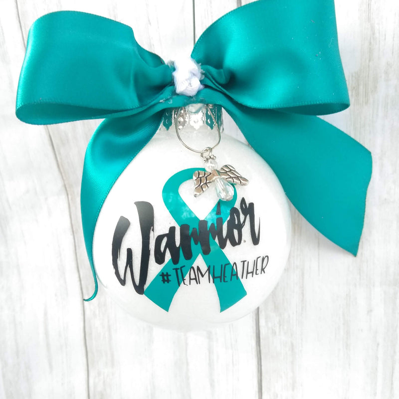 Cervical Cancer Awareness, Ovarian Cancer Awareness, sexual Assault Awareness, Cervical Cancer Survivor ornament, x syndrome awareness