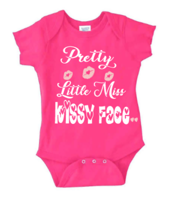 Little Miss Kissy Face Baby Girl's Valentine's Shirt - SouthernHearth Custom Tees & More