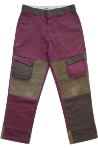 BURGUNDY CARGO DICKIES 34""