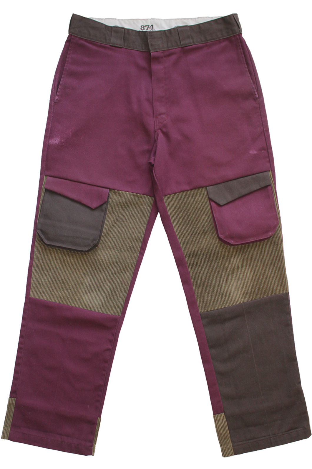 BURGUNDY CARGO DICKIES 34