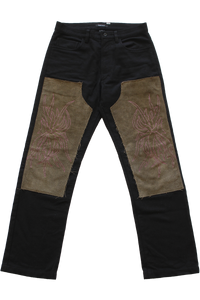 FLORA EMBROIDERED KNEE PATCH PANT 31""