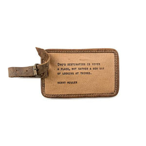 Henry Miller Leather Luggage Tag