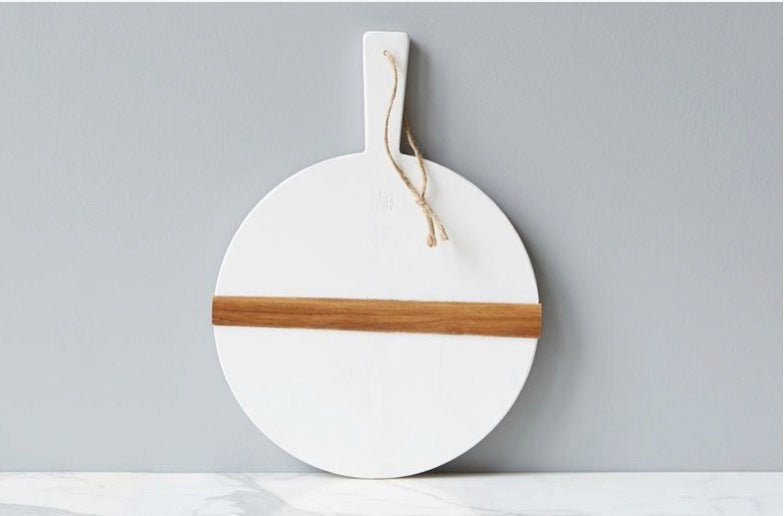 White Round Charcuterie Boards