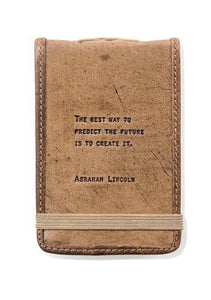 Abraham Lincoln  Leather Journal Small