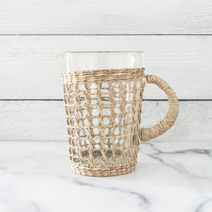 Seagrass Cane Pitcher