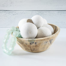 Load image into Gallery viewer, Shelfie Kit #8 Dried Natural Bell Cups with Seaglass Beads in Bleach Bowl