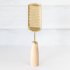 Gold Stainless Steel Grater Wood Handle