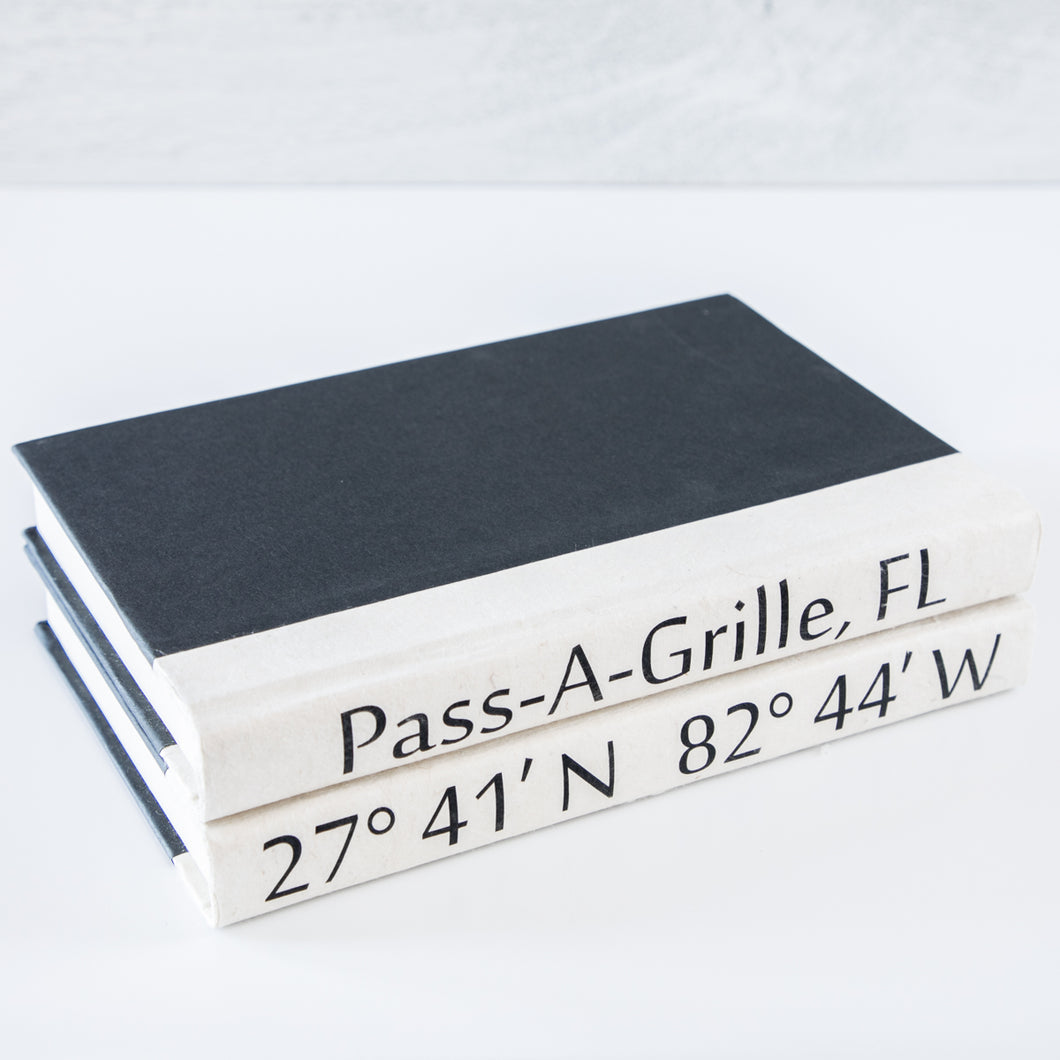 """Pass-A-Grille, FL"" Coordinate Book Stack of Two"