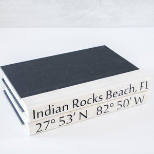 """Indian Rocks Beach, FL"" Coordinate Book Stack of Two"
