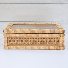 Load image into Gallery viewer, Woven Cane & Wooden Box