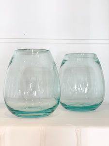 Set of 2 Stemless Recycled Glasses