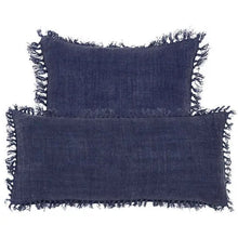 Load image into Gallery viewer, Indigo Linen Pillow