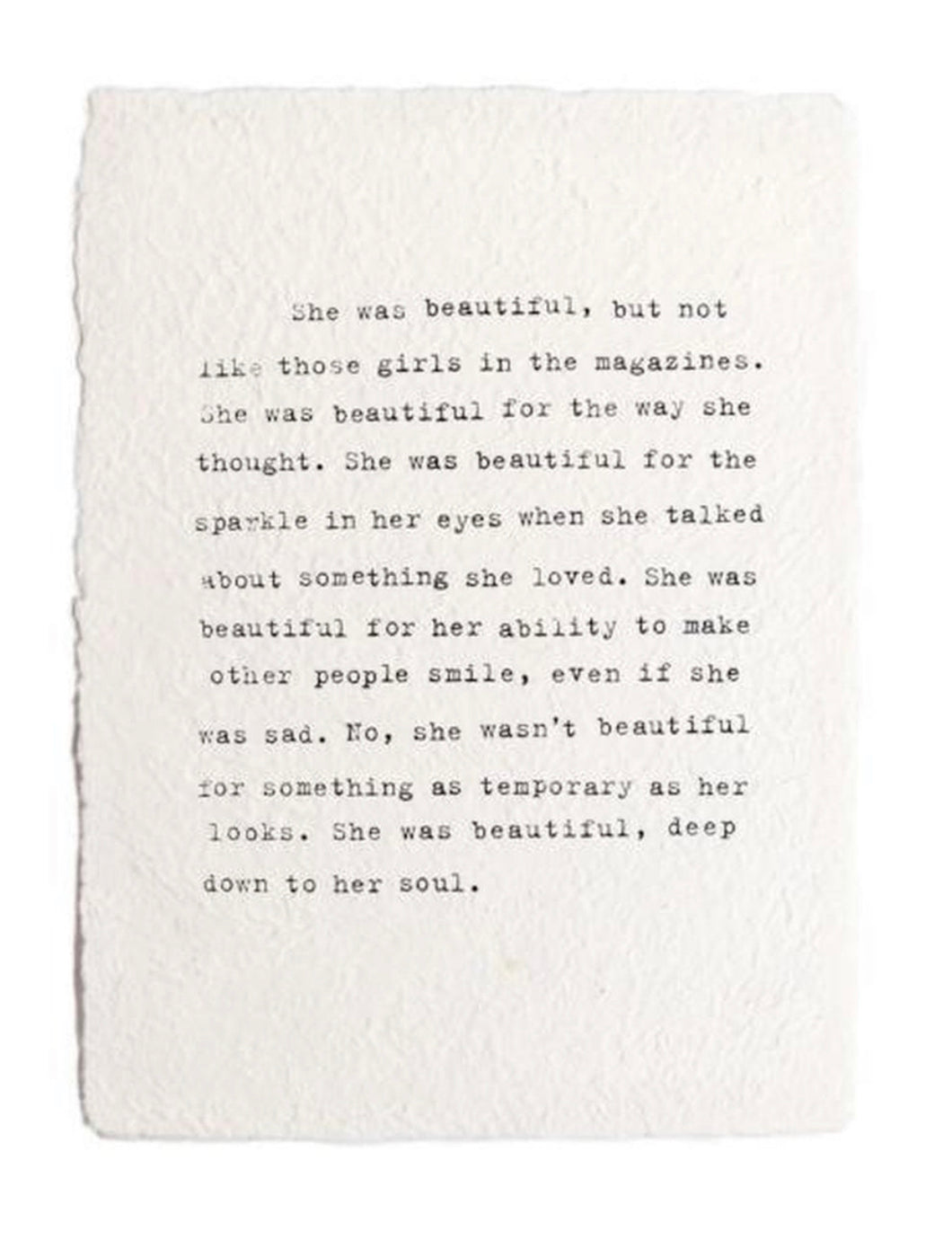 She Was Beautiful Paper Print